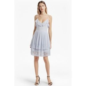 FRENCH CONNECTION adanna pleat lace jersey dress 6